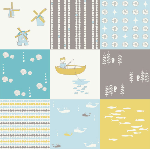 Nursery fabric boy thenurseries for Space baby fabric